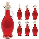 6 Botellas de Vidrio Vacías 250/500 ml 6 Unidades a Elegir con Corcho para Rellenar Botellas para Licor Vinagre Aceite Aguardiente Zumo 0,2 5/0,5 Litros de SLK GmbH - blanco, vidrio, 500 ml