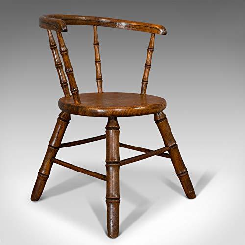Kleiner antiker Windsor Stuhl, Englisch, Eiche, Apprentice, High Wycombe, viktorianisch