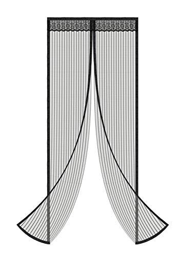 Magnetic Screen Door - Fit Door Size Up to 35'x83'-Black
