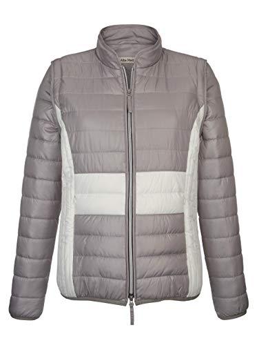 Alba Moda Damen Jacke mit Stehkragen in Taupe in 2 Tragevarianten