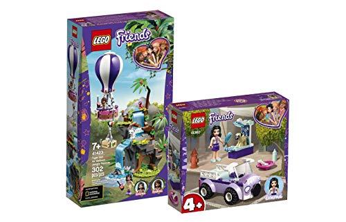 Collectix Lego Friends - Set: 41423 Tiger-Rettung mit Heißluftballon + 41360 Emmas Mobile Tierarztpraxis