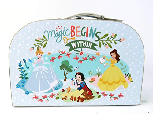 FSL Disney Princess Canvas Carry Case Magic Begins Within Cinderella, Belle and Snow White
