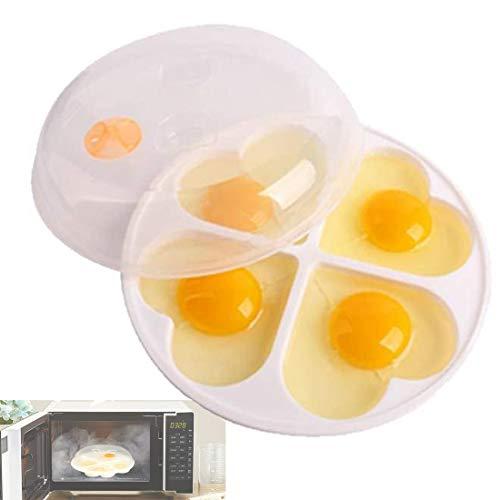 TUSNAKE mikrowelle Ei wilderer, Eierkocher Schimmel Eier Dampfer Kessel Küche Kochwerkzeug, Für bis zu 4 Eier