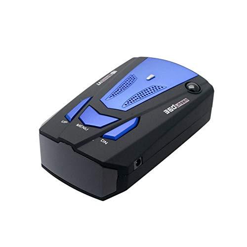 Détecteur de Radar de Voiture V7, Alarme d'invite vocale Riloer Détecteur de Radar à Fonctionnement Simple à 3 Boutons et kit de Chargeur de Voiture, Bleu