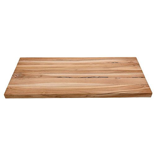 wohnfreuden Teakholz Waschtischplatte für Naturstein Waschbecken ✓ Holz-Platte für Waschbecken ✓ antikes Teakholz ausgetrocknet und geschliffen ✓ Unterbau Gr. L 100 cm