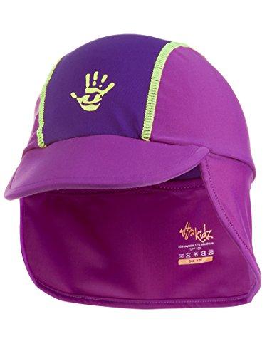 Ultrakidz - Cuffia da Piscina, per Bambini, con Visiera e Protezione per Collo, prtezione UV (50+), Rosa (Rosa), Taglia Unica