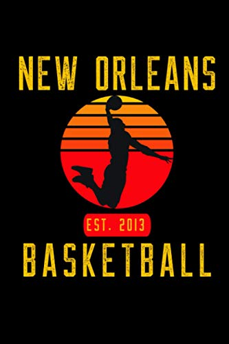 New Orleans Basketball: Retro Sunset Basketball Player Notebook Gift Idea