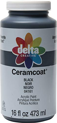 Delta Creative Ceramcoat Acrylic Paint in Assorted Colors, 16 oz, Black