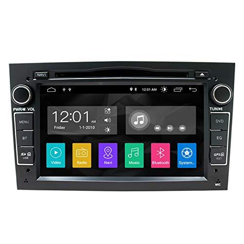 SWTNVIN Android 10.0 Auto Audio Stereo Kopfeinheit passt für Opel Vauxhall DVD Player Radio 7 Zoll HD Touchscreen GPS Navigation mit Bluetooth WiFi Lenkradsteuerung 2GB + 16GB (Schwarz)