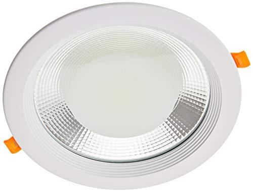 Jandei - Downlight LED COB redondo empotrar, 30W 3000 lúmenes (= bombilla 250W), luz blanca fria 6000K para salón, cocina, tienda, negocio, oficina