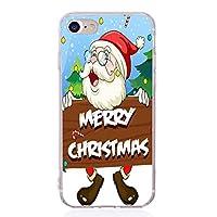 クリスマス電話ケースiPhone se 6s 6 7 8 x 10適用シリコーントナカイサンタクロースカバー,アプリコット,foriphone8