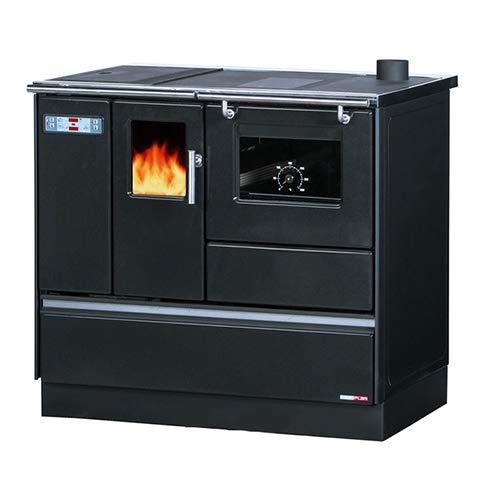 Cuisinière Granulés avec Four Chauffage seul Sannover 8 kW Gris anthracite