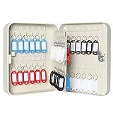 Jssmst(ジェスマット) 手提金庫 キーボック 収納 鍵収納 コンパクト 壁掛け 48個(鍵-48個 NEW)