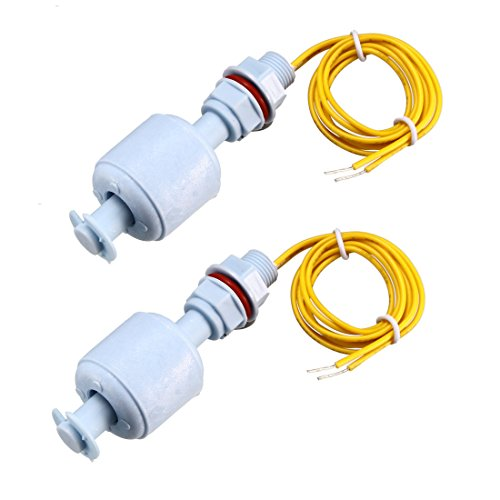 uxcell PP Float Switch for Water Pump M10 Tank Liquid Water Level Sensor 16-inch Cable 2pcs