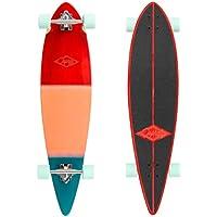 Osprey 40in Complete Beginner Pintail Skateboard Longboard/Cruiser - Wood Grad