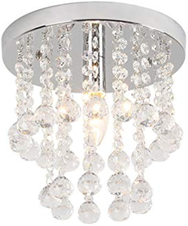 ZRR Crystal Chandelier, Modern Anhnger Kristallkronleuchter, Unterputz Deckenleuchte für Küche Esszimmer Wohnzimmer Flur Arbeitszimmer Durchmesser 25cm (Keine Glühbirne enthalten)