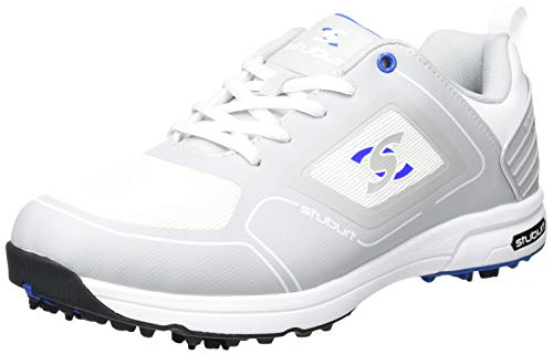 Stuburt SBSHU1126, Scarpe da Golf Uomo, Bianco/Grigio Chiaro, 8.5 UK