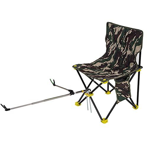 Chuanhao Fishing Chair Multifunctional Folding Fishing Stool Seat for Camping Fishing Outdoor