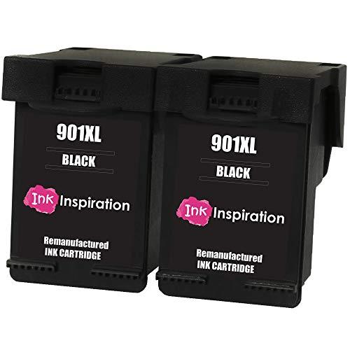 INK INSPIRATION® 2 Schwarz Premium Druckerpatronen Ersatz für HP 901 901XL OfficeJet 4500 G510a G510g G510n J4500 J4524 J4535 J4540 J4550 J4580 J4585 J4600 J4624 J4640 J4660 J4680 J4680c
