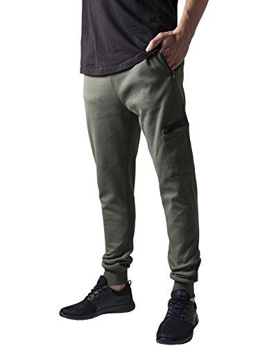 Urban Classics Athletic Interlock Sweatpants, Mutande Uomo, Grün (Olive 176), W30/L31 (Taglia Produttore: S)