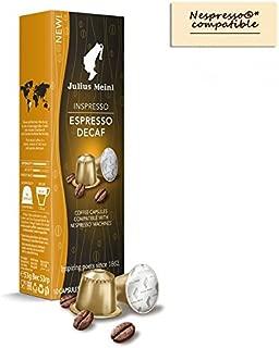 Julius Meinl - Nespresso compatible - Capsules Espresso Decaf - 10 x 5.3g