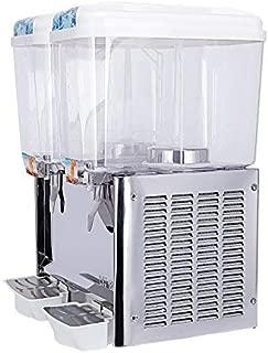 Commercial Juice Dispenser Machine, 2 Tanks 9.5 Gallon, KUPPET Fruit Juice Dispenser For Cold Drink, Plastic/Stainless Steel Finish Beverage Dispenser, 18 Liter Per Tank, Cold 280W