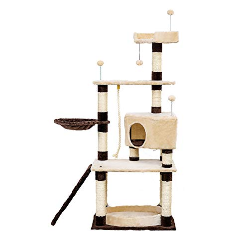 SPLLEADER Cat Climbing Frame, Condo Cats Hammock Perches Platform, Cat Furniture Cat Tree Cat Tower -for Adult Cats Activity Centre Cat Climbing Frame
