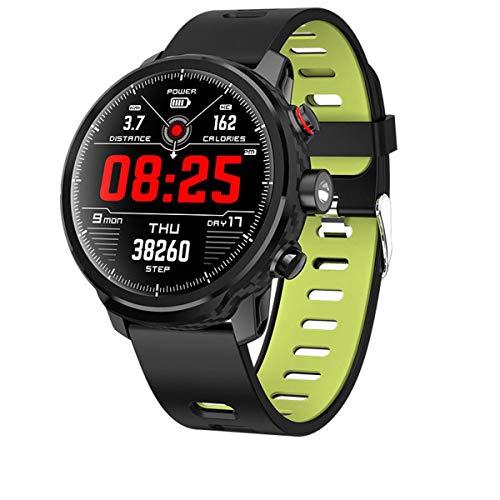 IP68 a Prueba de Agua Recordatorio Hombres L5 es Inteligente Reloj del Ritmo cardíaco del rastreador de Ejercicios Mensaje Call Tiempo una Variedad de Deportes Inteligentes Relojes, Verde, un tamaño
