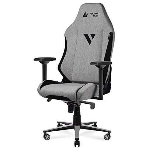 GTRACING Fabric Gaming Chair ACE-M1 Series Ergonomic Office Desk Chair With High Back Support And Fully Adjustable 4D Armrest 360° Swivel Rocking Chair (Beige)