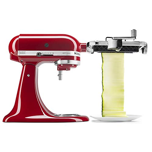KitchenAid KSMSCA Vegetable Sheet Cutter, Aluminium, Red
