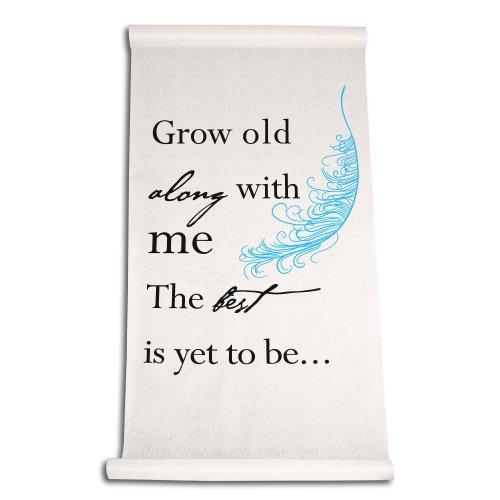 Ivy Lane Design Wedding Aisle Grow Old with Me Runner, Blue