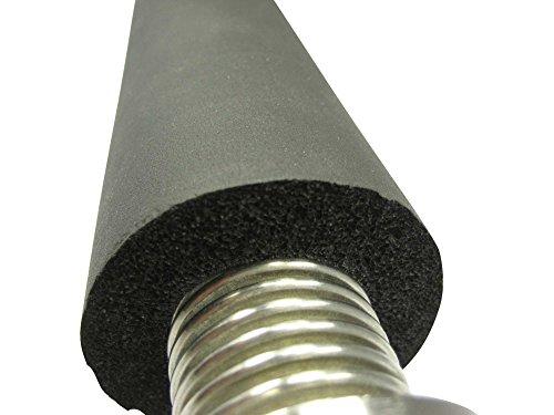 Rohrisolierung für Edelstahlwellrohr, 19mm Dämmung, für DN12 bis DN32, Preis je lfm - hohe Qualität gem. DIN1988 / Teil 7, DN-Größe:DN25-11/4 Zoll