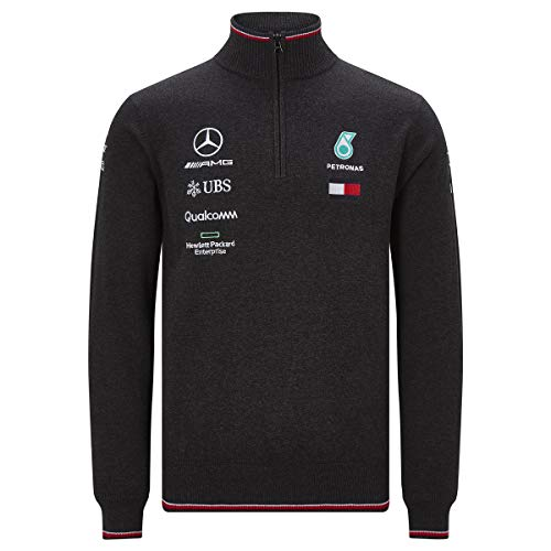 Official Formula 1 Merchandise   Männer   Offizielle Mercedes-AMG Petronas Motorsport 2019   F1™   Team-Strick-Pulli   Farbe: Grau   Größe: L