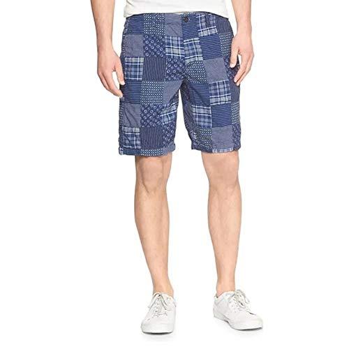 Gap Men's 228559 AIl Cotton 10' Inseam Madras Patchwork Plaid Casual Shorts (31W)