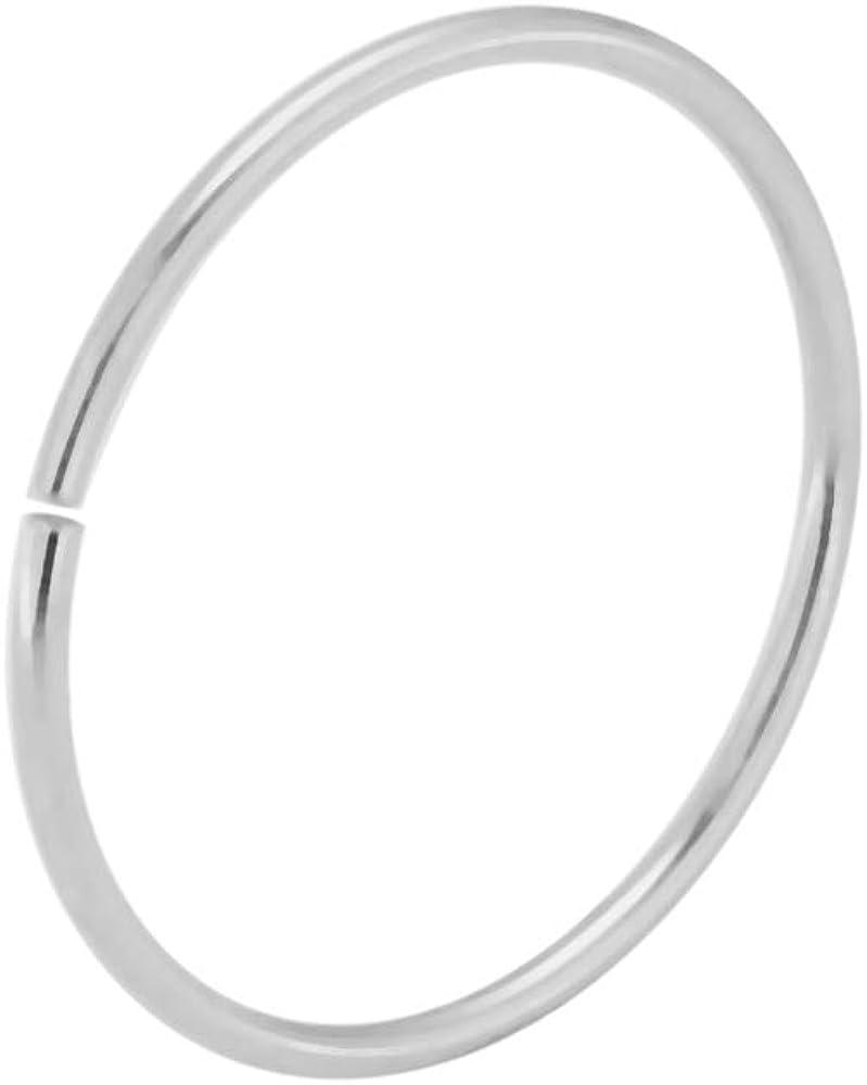 14K Gold 22 Gauge - 10MM Diameter Seamless Continuous Open Hoop Nose Piercing Ring Jewelry