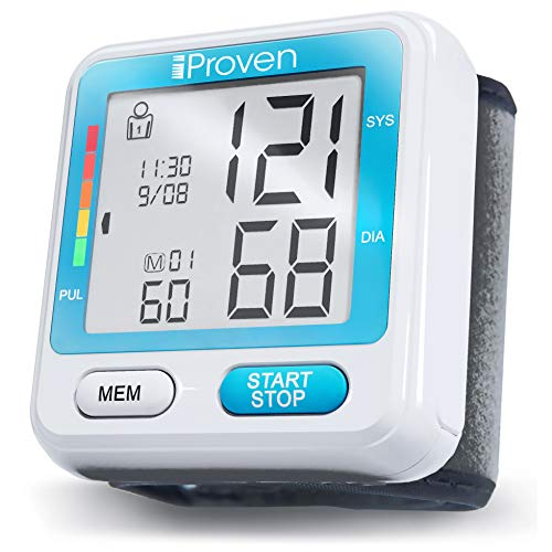 iProven Wrist Blood Pressure Monitor, 2x90 Memory, Irregular Heartbeat Detection, LCD Display, 2AAA Batteries Included - BPM-317 by iProven