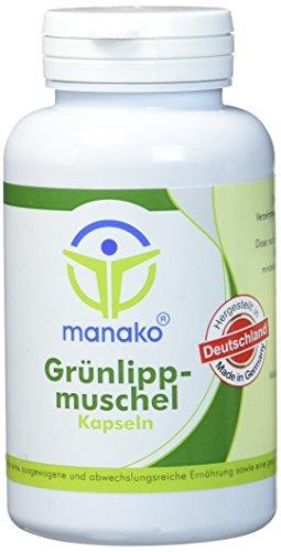 manako Grünlippmuschel Kapseln, 150 Stück, Dose a 90 g (1 x 150 Kapseln)