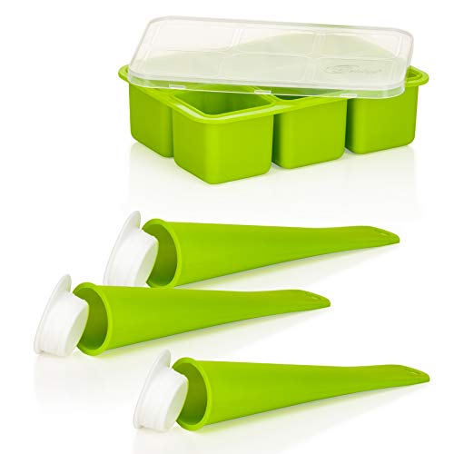 Genius Feelvita Eisformen   4 Teile   grün   Bekannt aus TV   NEU