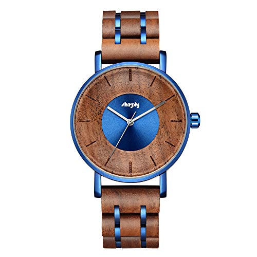 Wooden Watch Watches Stylish Wood and Stainless Steel Combined Quartz Casual Wristwatches