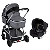 Safety 1st Poussette 3 en 1 Hello Hamac Convertible en Nacelle + Cosi + Adaptateurs Cosi Black Chic