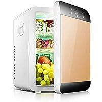 XUHRA Mini Nevera, de Doble núcleo 20L Mini refrigerador, Mini-durmiendo único automóvil de Arte trae a casa de Doble Uso del refrigerador, refrigeración y calefacción Frigorífico Coche,Black W.