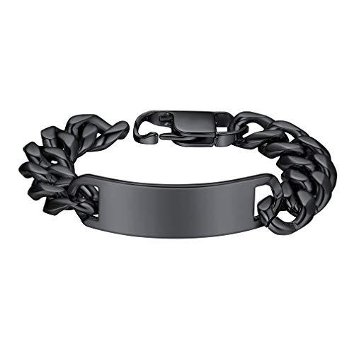 Custom4U Armband voor Heren Hip Hop Armband Punk Armband voor Heren Curb Ketting Armbanden