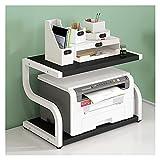 Soporte de Impresora Soporte de impresora grande, estante de pantalla de Turn-N-Tube, impresora multifunción de escritorio Pantalla de estante del escáner de la copiadora (cuatro colores) Rack de Alma