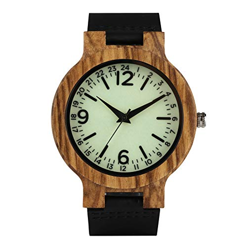 Luminoso quadrante legno orologio digitale da uomo donna, originalità orologi in legno, legno di svago da polso per bambino–Jlyshop