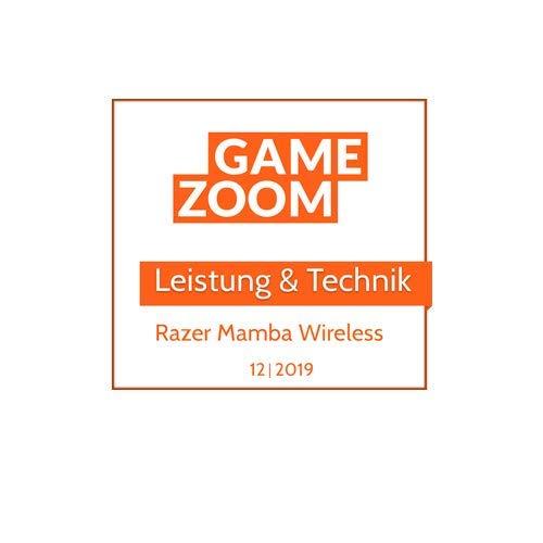 Razer Mamba Wireless: Gaming-Maus mit echtem optischen Sensor der 5. Generation mit 16.000 DPI, 50 Stunden Akkulaufzeit, betrieben von Razer Chroma