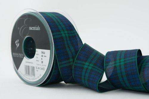 Berisfords Ruban Tartan Polyester 40 mm, Black Watch