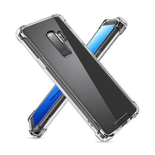 Hybrid Hard Clear Phone Case Compatible for [ Samsung Galaxy S9 ] [Shock Absorption] Clear Back Cover Plus TPU Bumper Cushion with Reinforced Corners for Galaxy S9 (Cl-S9 5.8 inch)