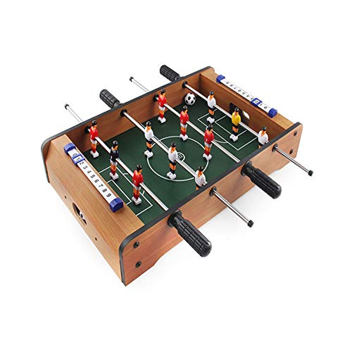 WZSY Mini Table Football Game, Unisex Get Coperta Insieme Senza Giunte Raised Facile da Montare da Regalo Calcio for Ragazzi, Adatto A Arcades Bars Partito (Color : Brown)