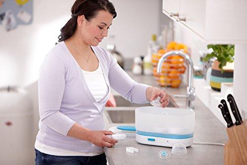 Philips dampfsterilisator sterilisator baby sfc284/02 3 flaschen x 330ml flaschen in 1-6 - 6