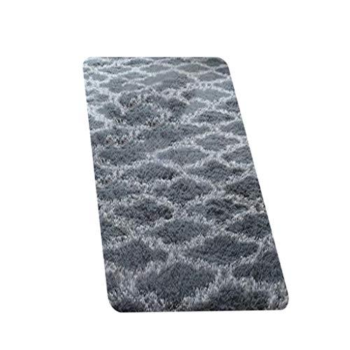 Teppich Teppiche Langes Ultraweiche Moderne Haar Tie-Dye Farbverlauf Wohnzimmer Schlafzimmer Nordic minimalistisches Schlafsofa voller Teppich Shaggy Rug Home Zimmer Plüsch Dekor Bodenmatte 50X160cm